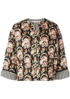 Oscar de la Renta floral print jacket