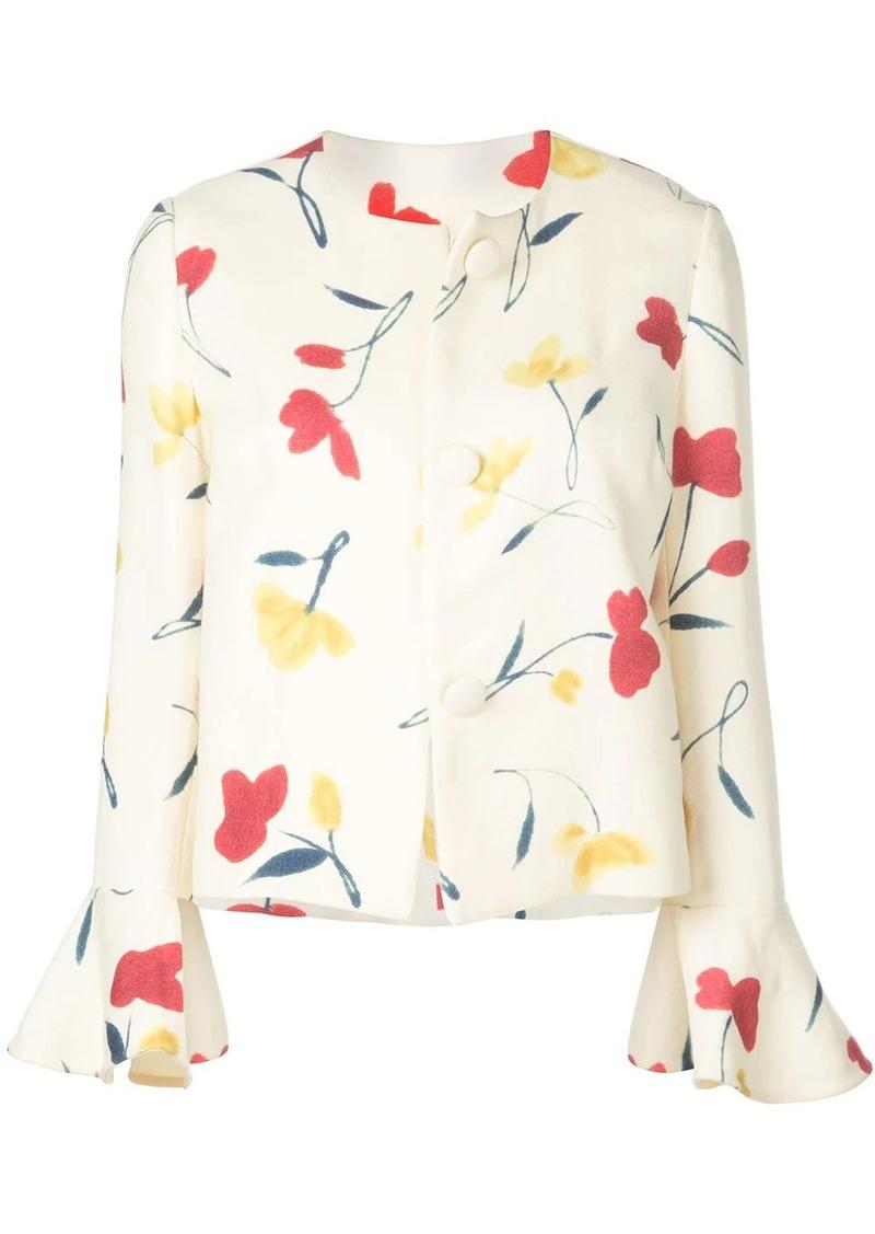 Oscar de la Renta poppies print jacket