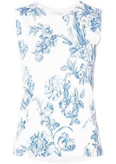 Oscar de la Renta floral print knitted top