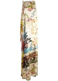 Oscar de la Renta floral print maxi dress