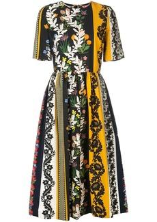 Oscar de la Renta floral print midi dress