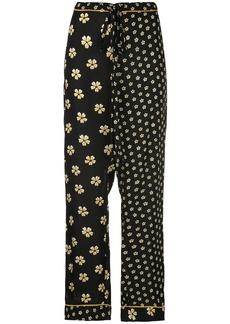 Oscar de la Renta floral print pajama trousers