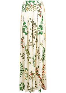 Oscar de la Renta floral print wide leg trousers