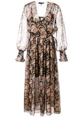 Oscar de la Renta floral wrap-around dress