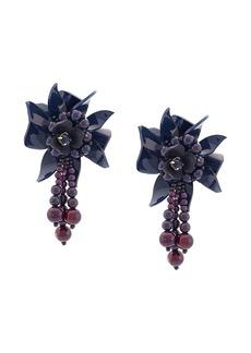 Oscar de la Renta flower field earrings
