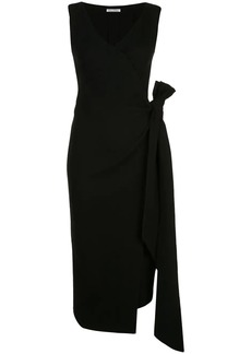 Oscar de la Renta front slit cocktail dress
