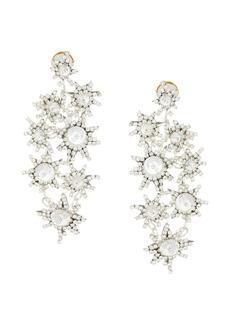 Oscar de la Renta gem-embellished earrings