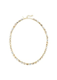 Oscar de la Renta gold-plated embellished necklace