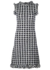 Oscar de la Renta houndstooth check mini dress