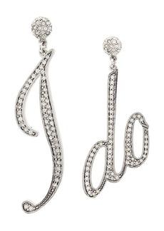 Oscar de la Renta 'I Do' oversized earrings