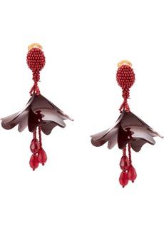 Oscar de la Renta Impatiens earrings
