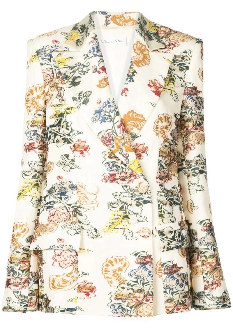 Oscar de la Renta floral jacquard blazer