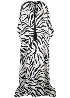Oscar de la Renta zebra print kaftan dress