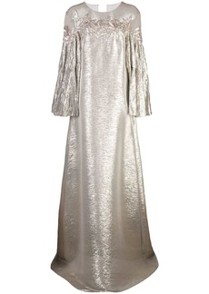 Oscar de la Renta katfan gown with off-shoulder beading