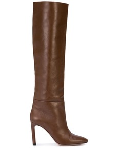 Oscar de la Renta knee length zipped boots