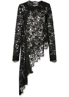 Oscar de la Renta lace asymmetric blouse
