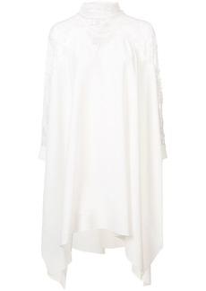 Oscar de la Renta lace-panel asymmetric dress
