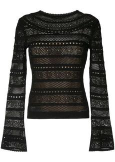 Oscar de la Renta lace-stitch sweater