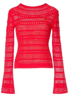 Oscar de la Renta lace-stitch sweater