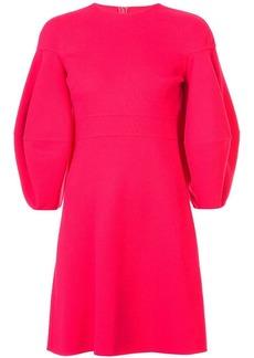 Oscar de la Renta lantern sleeve flared dress