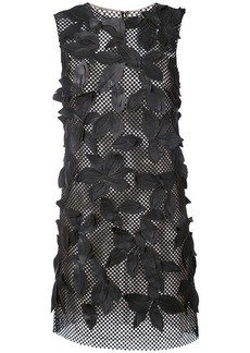 Oscar de la Renta leaf embellished mesh dress