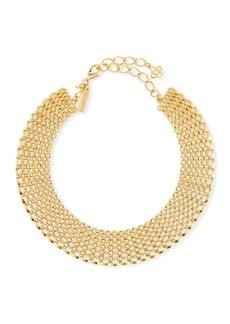 Oscar de la Renta Linked Chain Choker Necklace