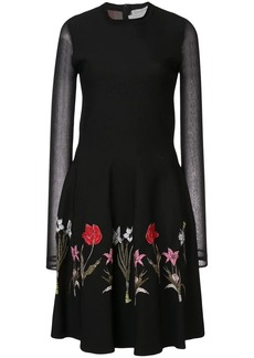 Oscar de la Renta long-sleeve embroidered dress