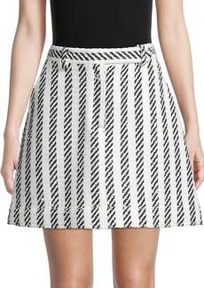 Oscar de la Renta Matching Stripe Skirt