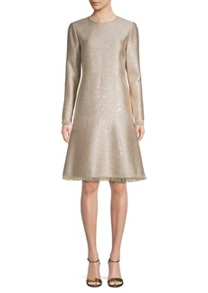 Oscar de la Renta Metallic A-Line Dress