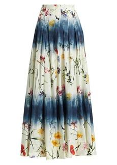 Oscar de la Renta Mid Waist A-Line Maxi Skirt
