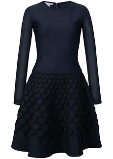 Oscar de la Renta net jacquard knit dress