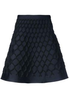 Oscar de la Renta net jacquard knit skirt