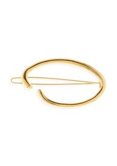 Oscar de la Renta O Logo Goldtone Hair Clip