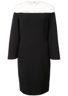 Oscar de la Renta off-the-shoulder cape-effect dress