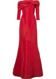 Oscar de la Renta off-the-shoulder drape neck gown