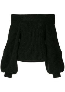 Oscar de la Renta off-the-shoulder sweater