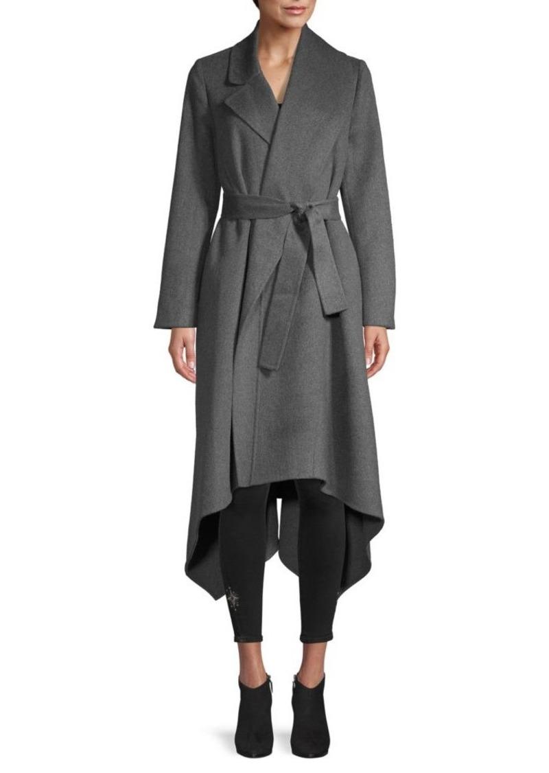 Oscar de la Renta Orylag Blend Asymmetric Wrap Coat