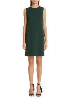 Oscar de la Renta Oscar de la Rena Scarf Back Stretch Wool Shift Dress