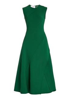Oscar de la Renta - Women's Bias-Cut Wool-Blend Midi Dress - Green - Moda Operandi