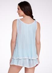 Oscar de la Renta + Precious Pleats Chiffon Tap Pajama Set