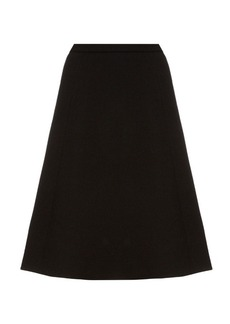 Oscar De La Renta A-line brushed-wool midi skirt