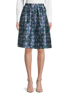Oscar de la Renta Abstract-Print Skirt