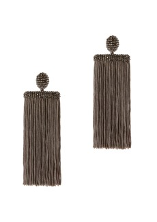 Oscar de la Renta Waterfall Fringe Earrings