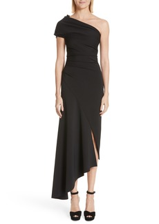 Oscar de la Renta Asymmetrical One-Shoulder Dress