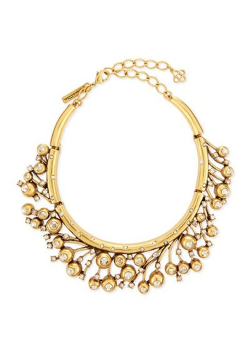 Oscar de la Renta Ball & Crystal Necklace