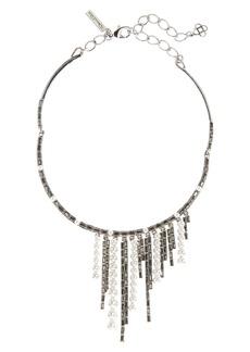 Oscar de la Renta Bead & Crystal Choker Necklace