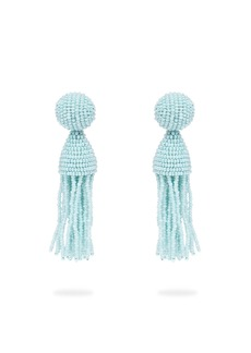 Oscar De La Renta Bead-embellished tassel-drop earrings