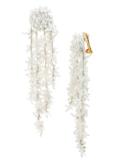 Oscar de la Renta Beaded Cascade Drop Earrings