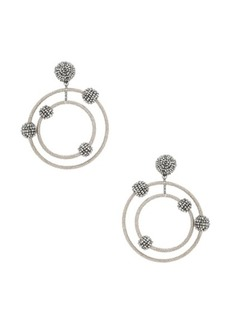 Oscar de la Renta Beaded Orbit Earrings