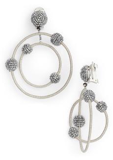 Oscar de la Renta Beaded Orbits Drop Earrings